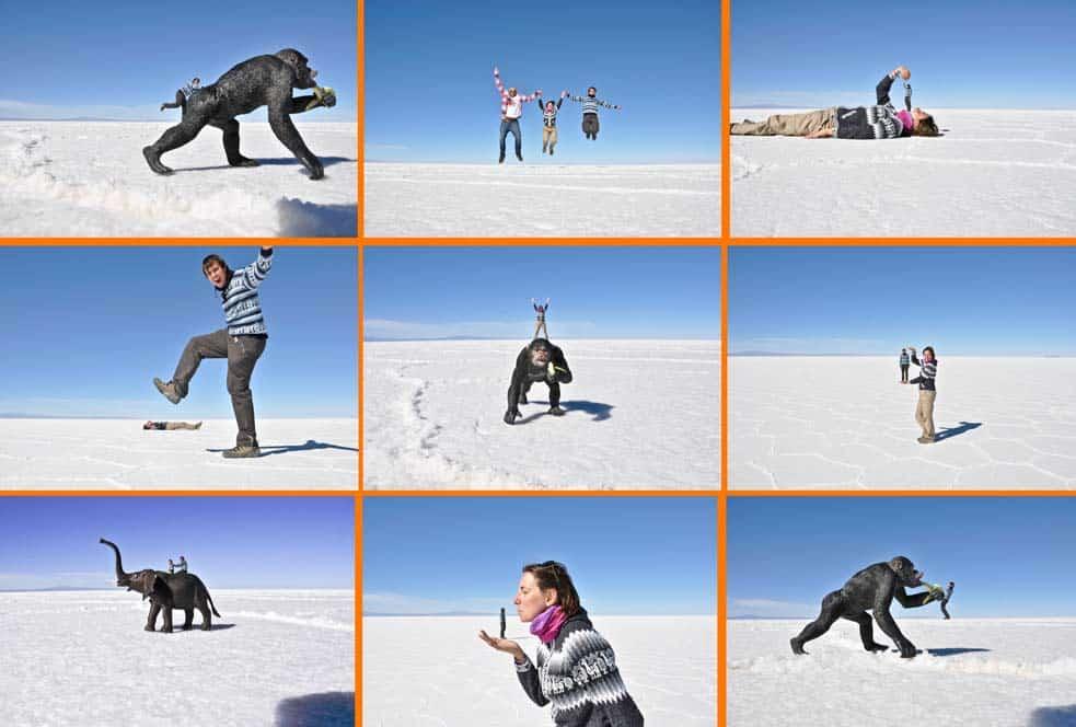 Fotos surrealistas, Salar de Uyuni, Bolivia
