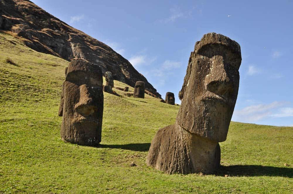 Rano Raraku, isla de Pascua, Chile