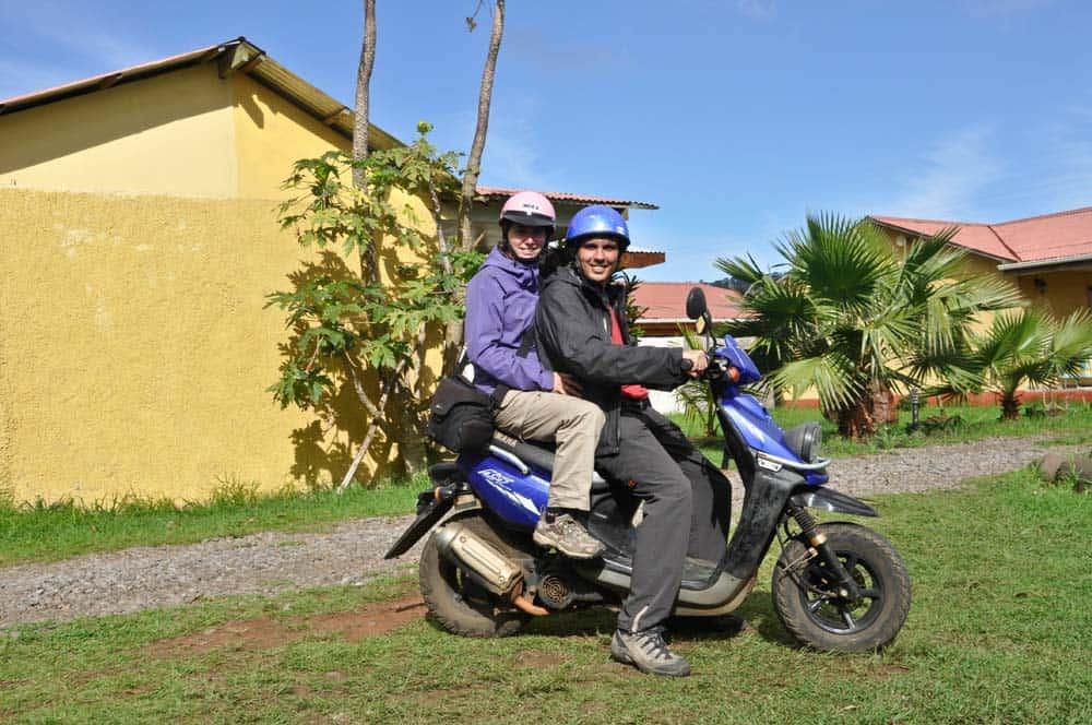 Viajar en moto, isla de Pascua, Chile