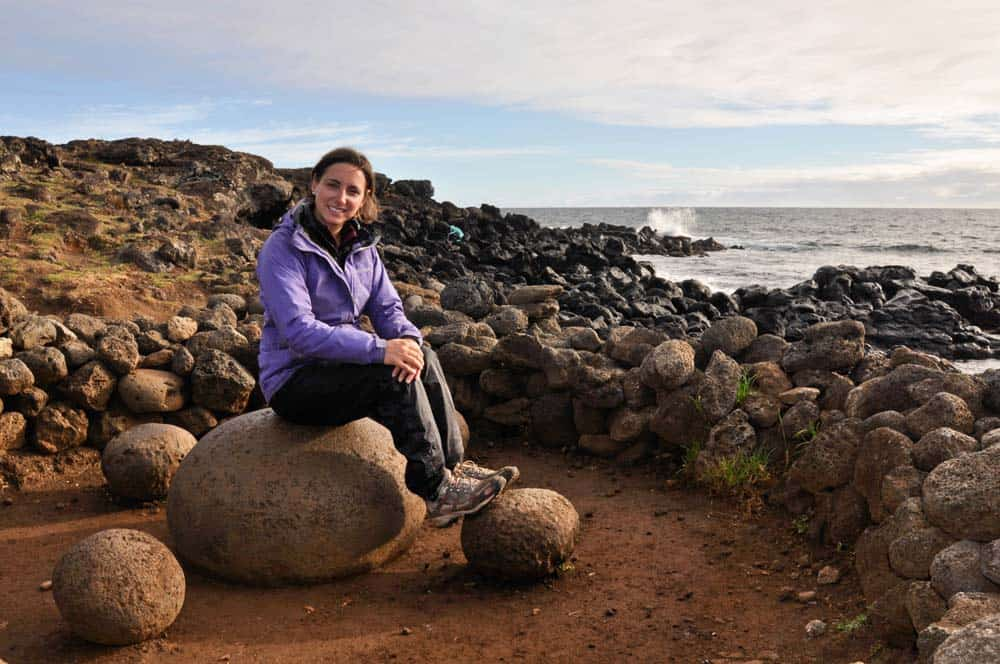 Piedra ombligo del mundo, isla de Pascua, Chile