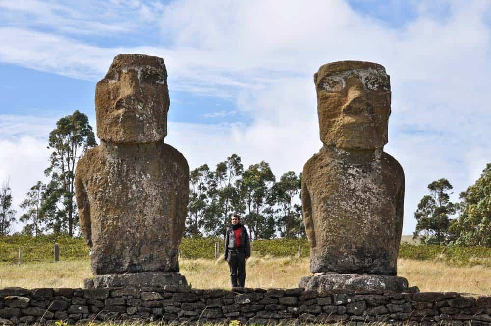 Moais Ahu Tepeu, isla de Pascua, Chile