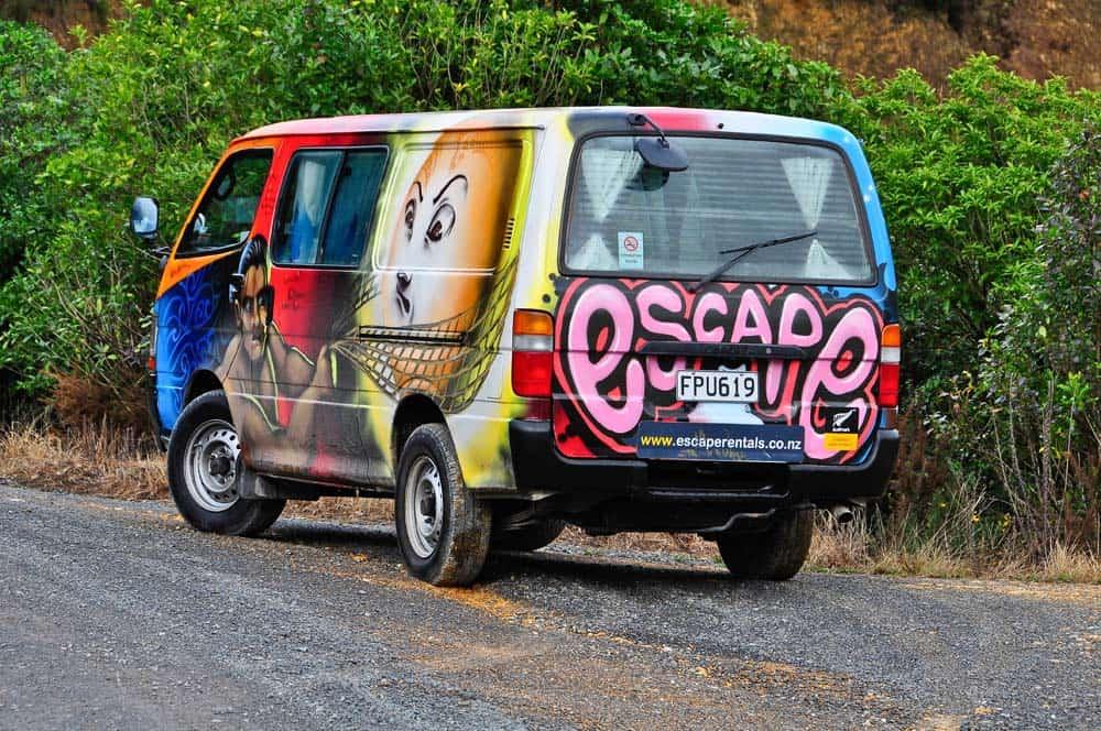 Speedy, a furgonunk Új-Zélandon