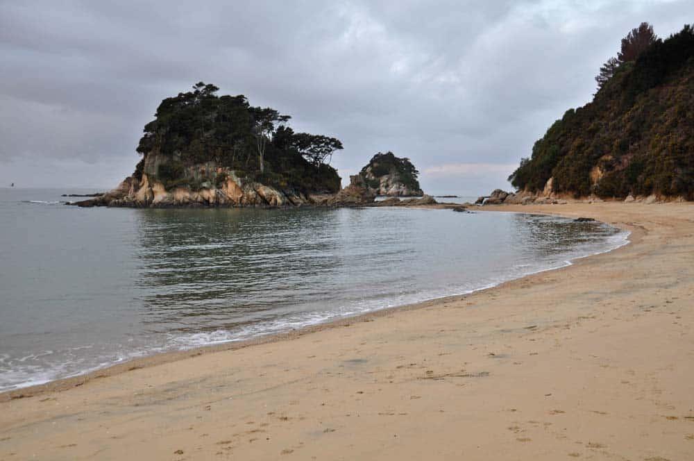 spiaggia piccola Kaiteriteri, Abel Tasman | Viaggio in Nuova Zelanda