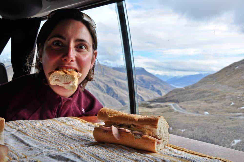 pranzo tra le montagne neozelandesi | Viaggio in Nuova Zelanda