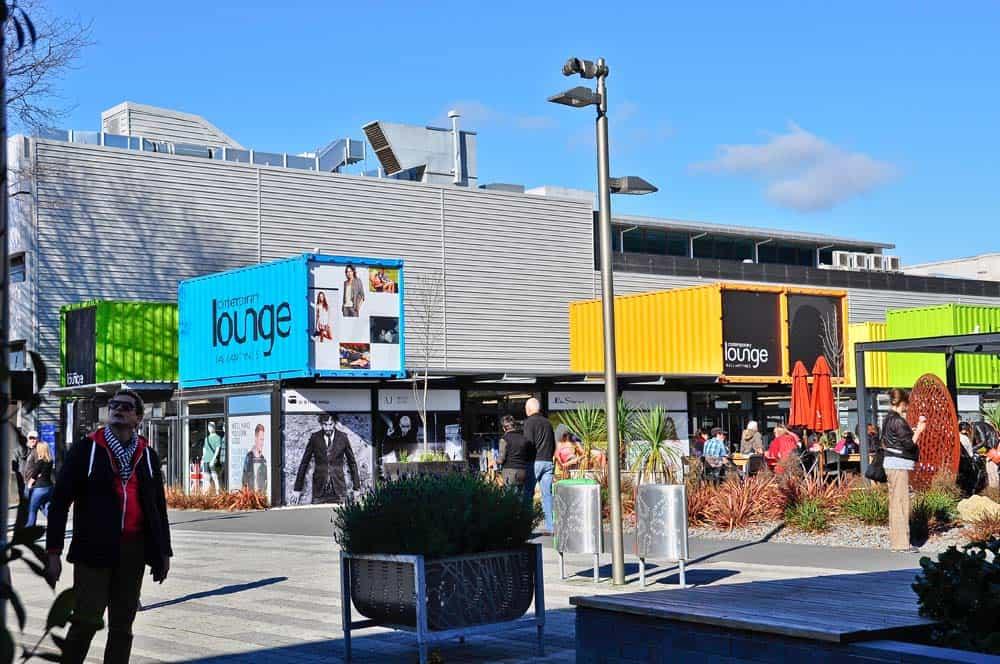 Contenedores en Christchurch