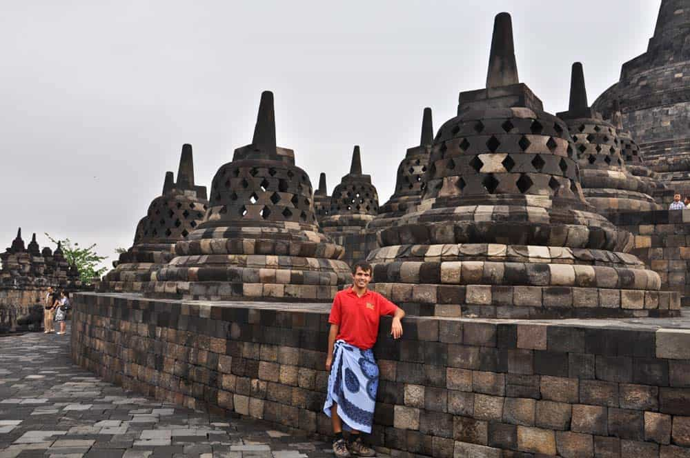 Estupas en Borobudur, Jogyakarta, Indonesia
