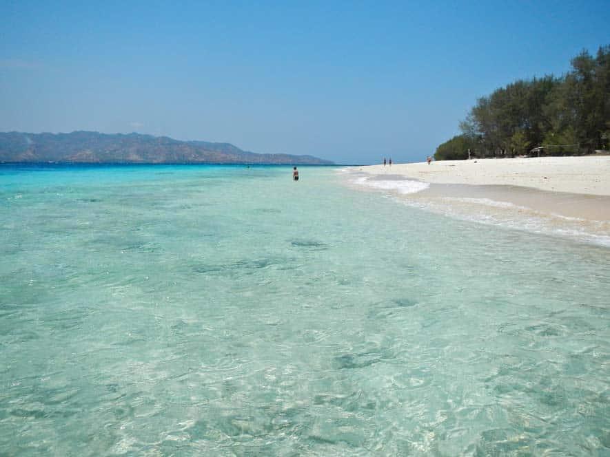 Spiagge bianche nell'isola di Gilli Meno | Viaggio Indonesia