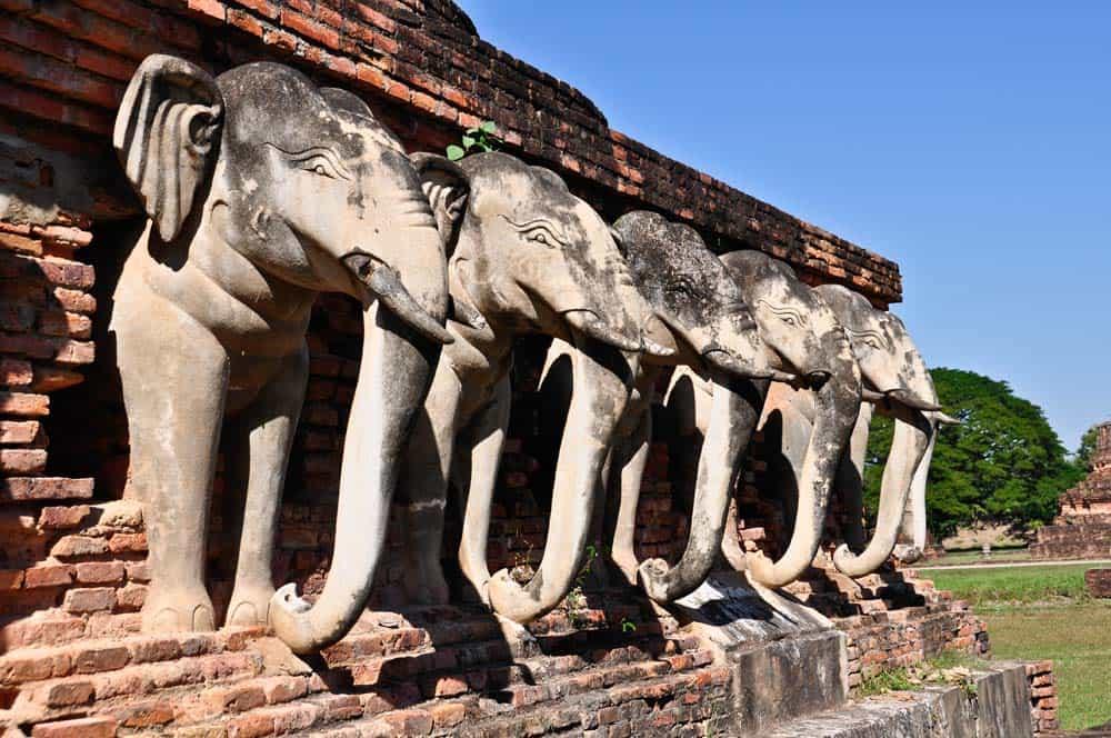 Wat Sorasak, parque historico de sukhothai, Tailandia