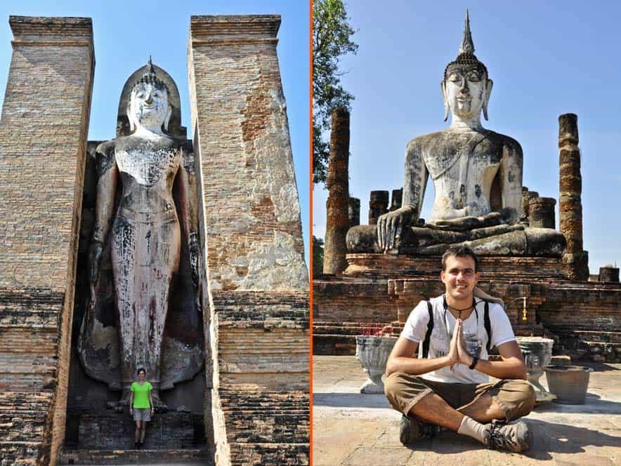 Budas gigantes, parque historico de sukhothai, Tailandia
