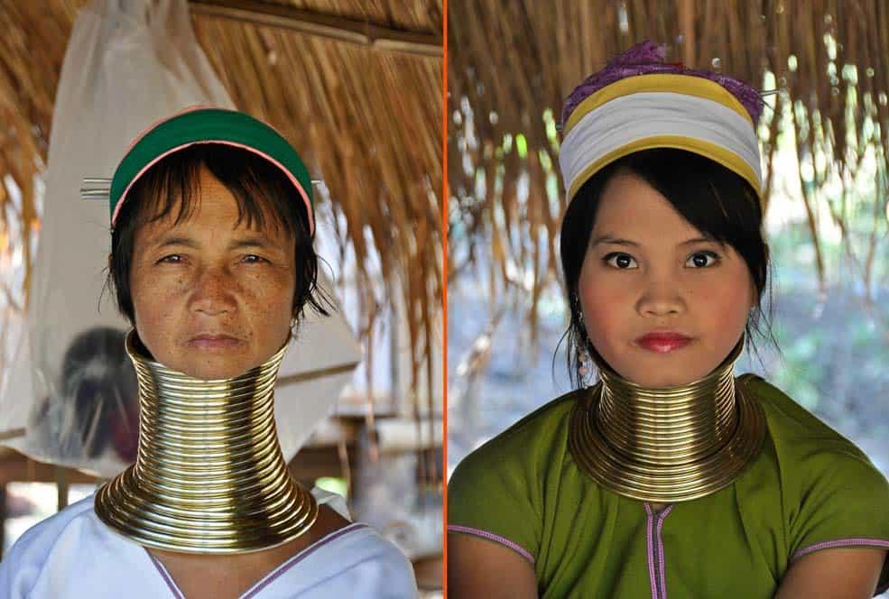 Mujeres de cuello largo