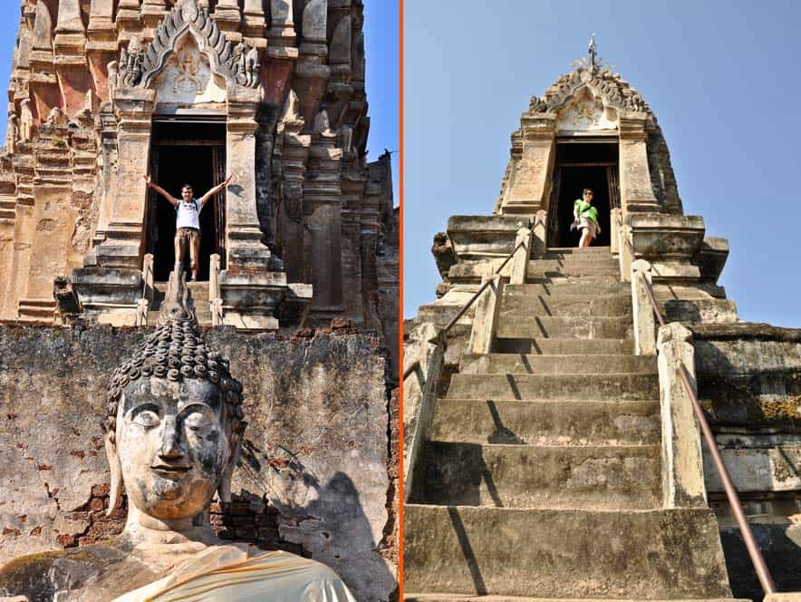 El parque histórico de Si Satchanalai - templo Wat Phra Si Rattana Mahathat Chaliango