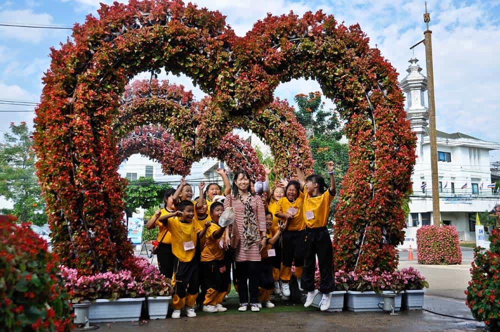 Fiesta de las Flores en Chiang Rai, Tailandia