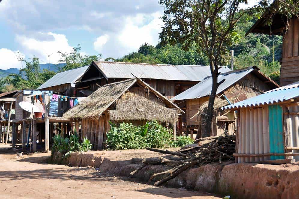 Villaggio di Poungkok nel nord del Laos
