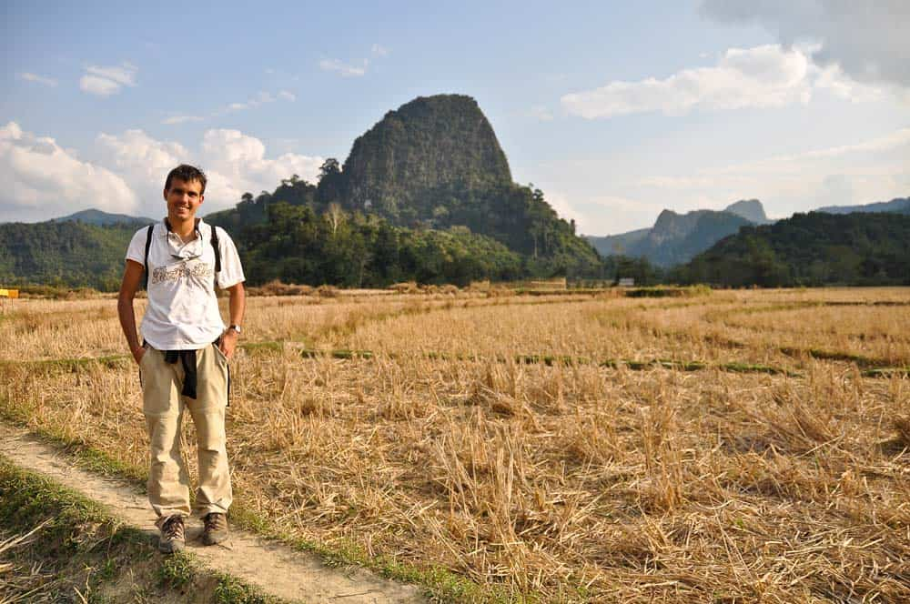 Campi di riso a Muang Ngoi in Laos