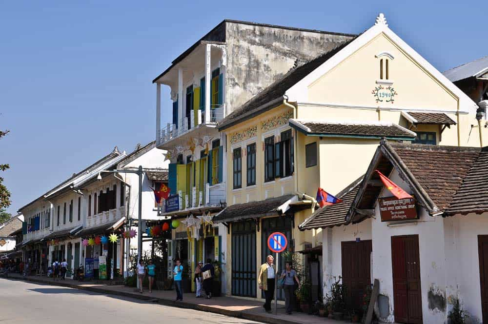 Strade di Luang Prabang in Laos