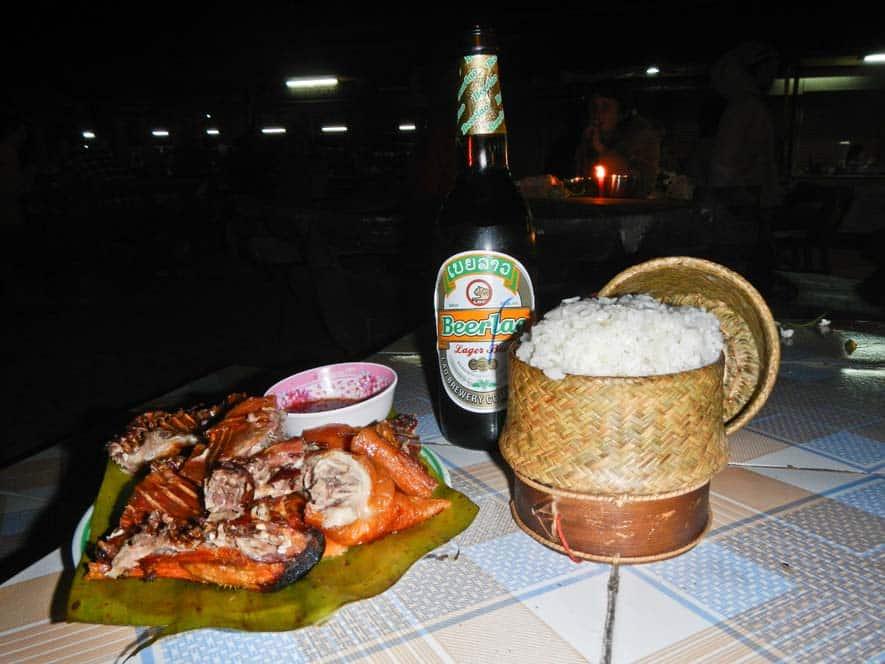 Cena di fine anno a Luang Nam Tha in Laos