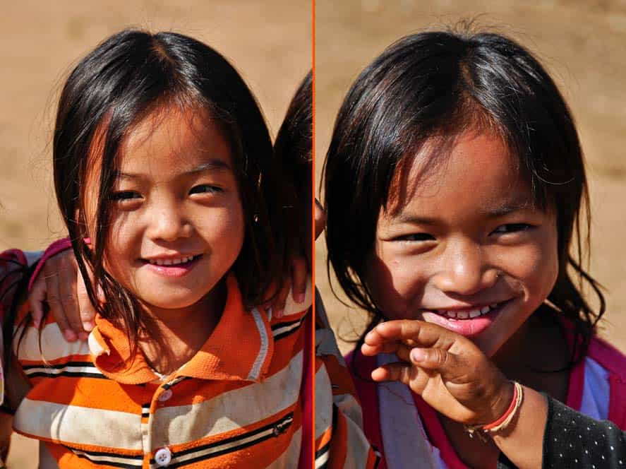 Bambini a Muang Sing in Laos