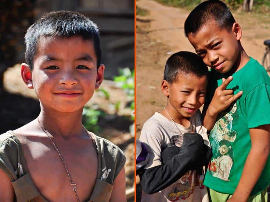 Ragazzi di Muang Sing in Laos