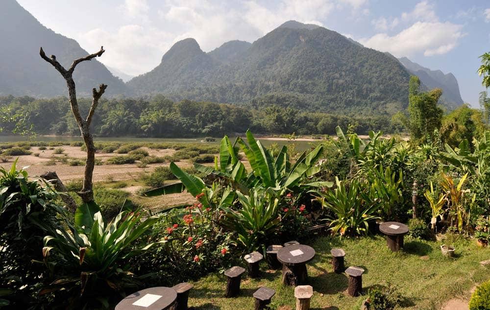 Paesaggio di Muang Ngoi in Laos