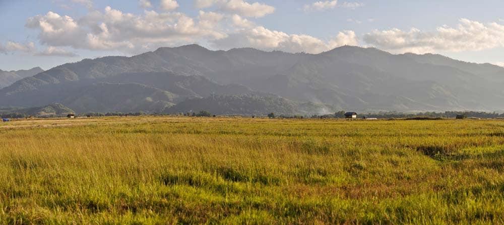 Paesaggio di Muang Sing in Laos