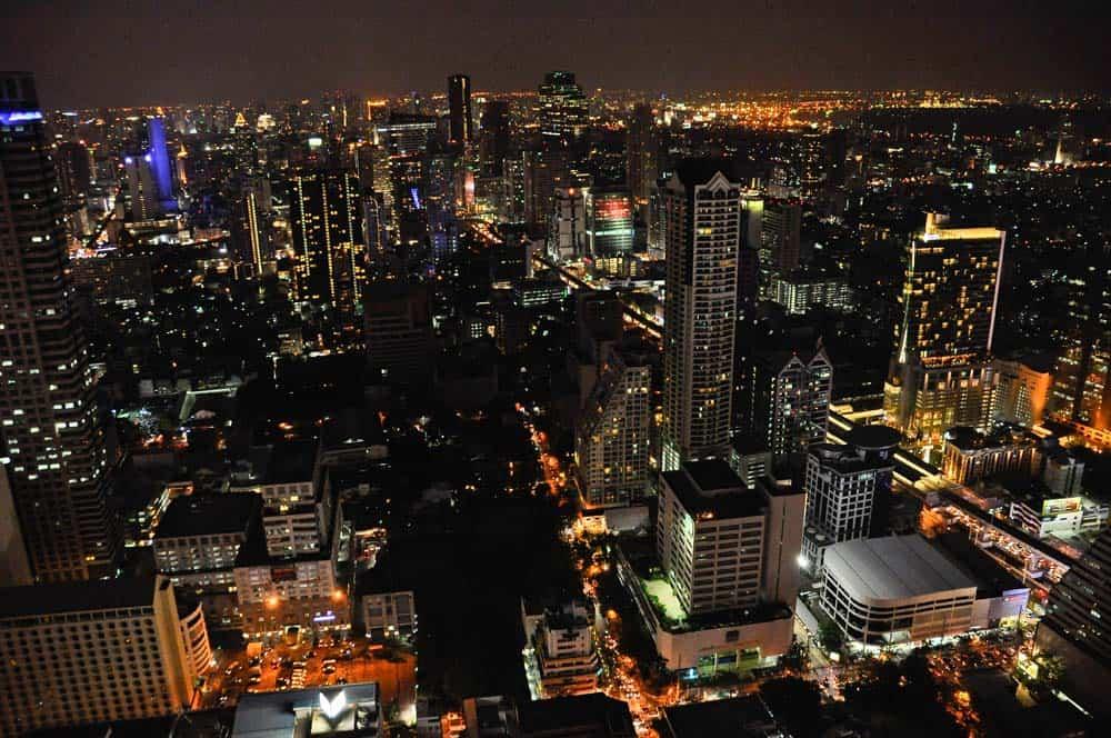 Vista desde Skybar, Bangkok, Tailandia