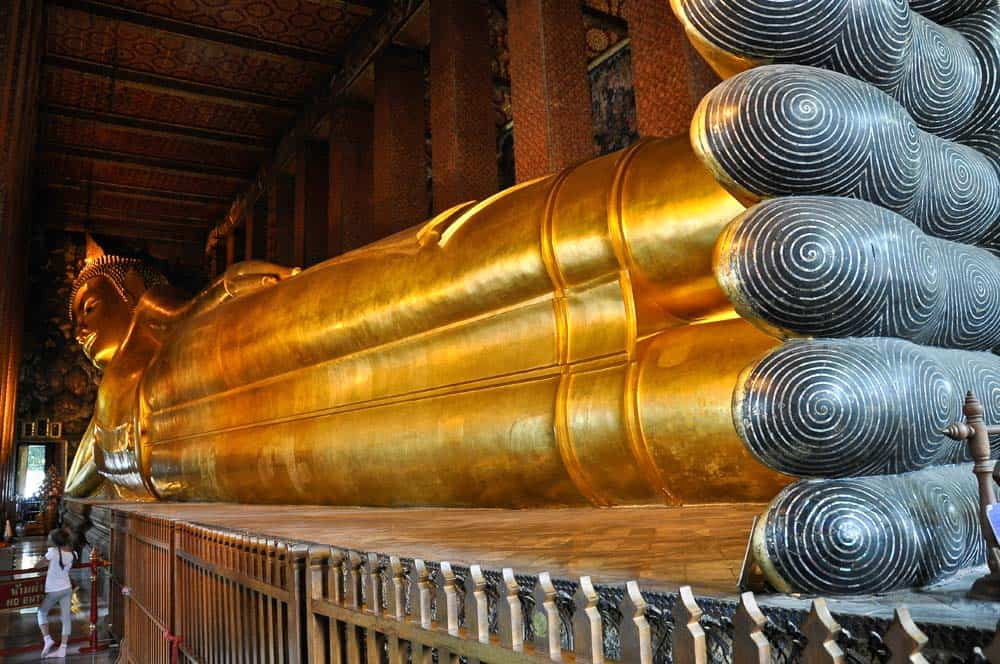 Wat Pho Buda reclinado, Bangkok, Tailandia
