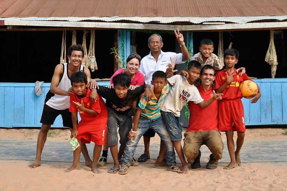 Como una familia, orfanato cerca de Siem Reap, Camboya