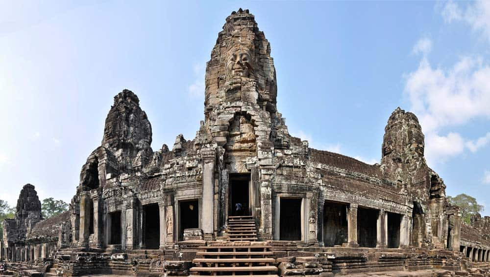 Panorama de Templo Bayón, Angkor Wat, Camboya