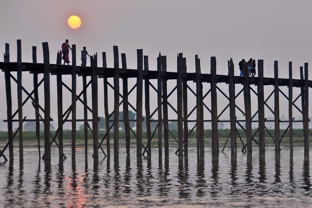 Sunset in U Bein Bridge