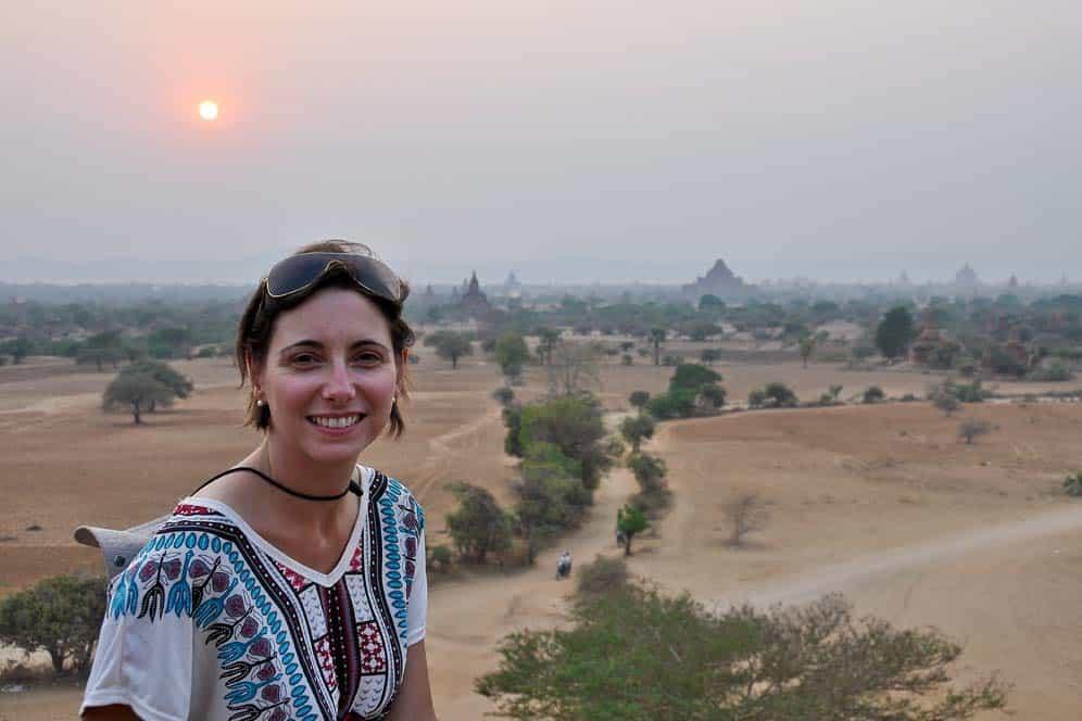 Puesta de sol en Pyathada Temple Bagan