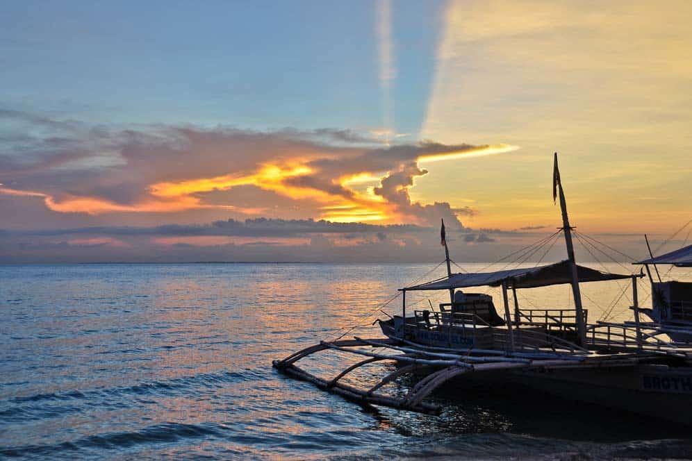 Tramonto nell'isola di Malapascua | Viaggio Filippine
