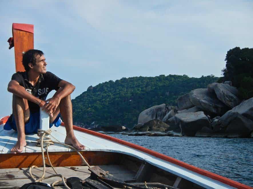 Long Tail Boat en Koh Tao