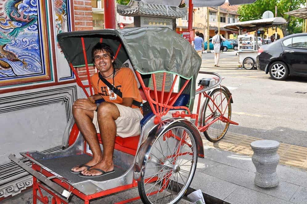 Rickshaw en George Town, Penang, Malasia