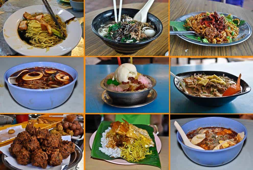 Comida en Penang