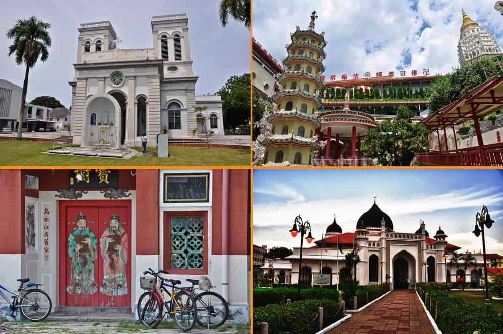 Lugares de culto en George Town, Penang, Malasia