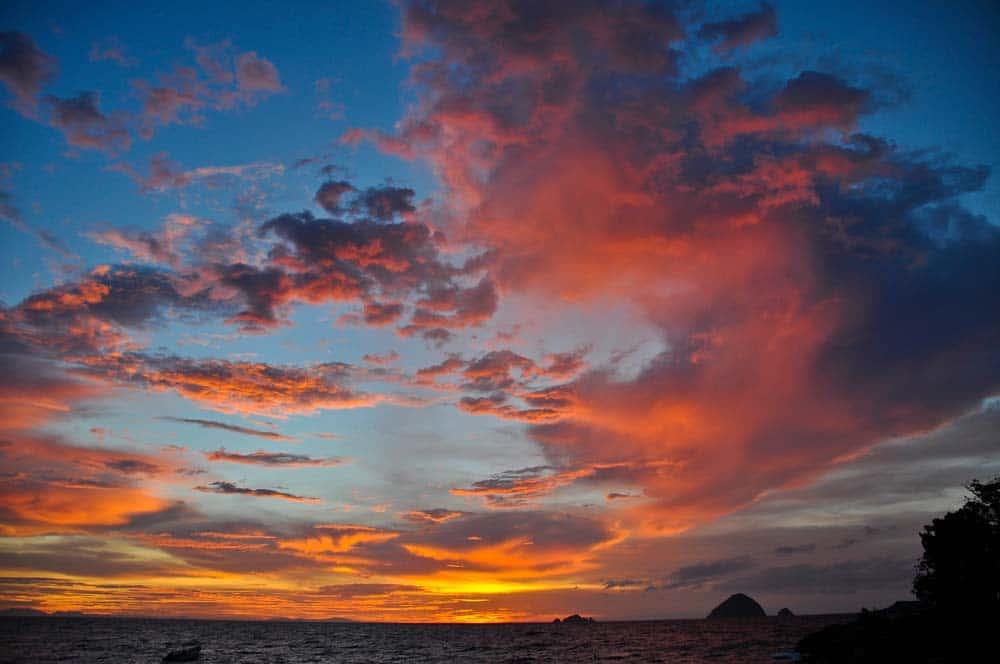 Tramonto nell'isola Perhentian Kecil | Viaggio in Malesia