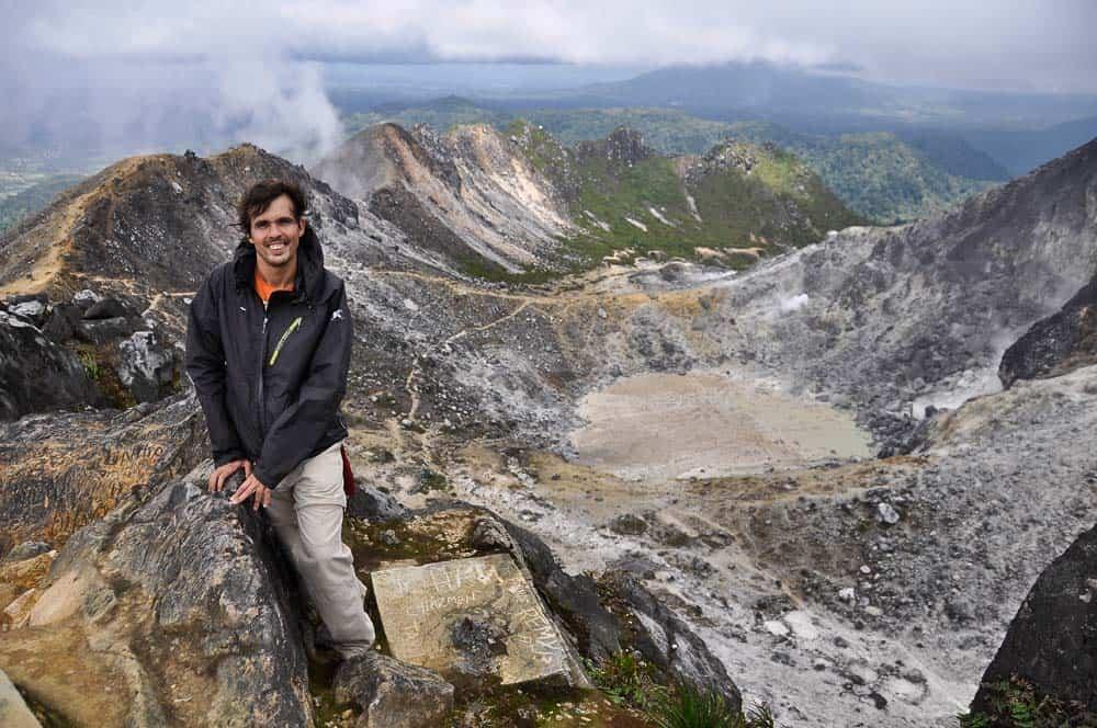 Gunung Sibayak crater