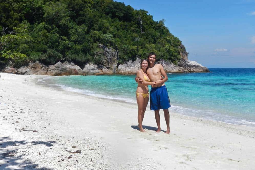 Nosotros en Romantic Beach, Islas Perhentian, Malasia