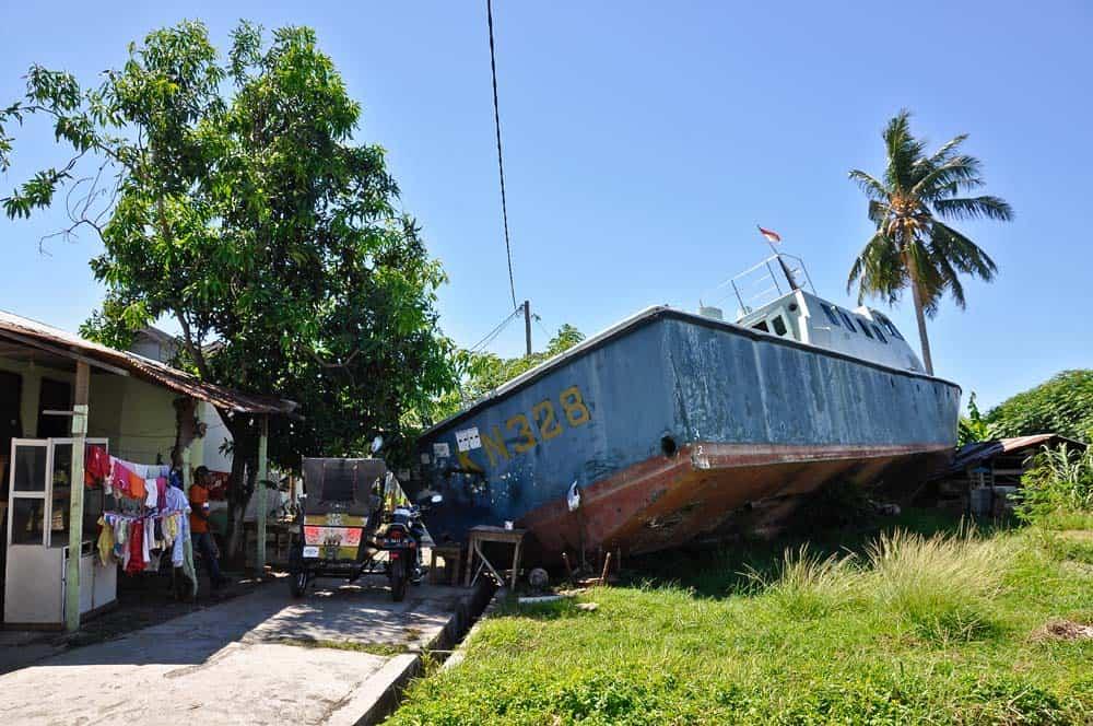 barca tra le case a Banda Aceh | Viaggio Indonesia