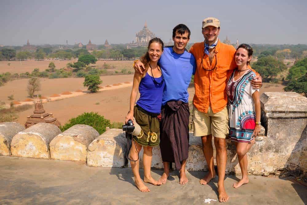 La ciudad de Bagan en Myanmar
