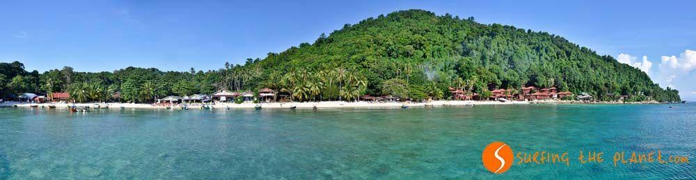 Panorámico de Coral Bay, Islas de Perhentian, Malasia