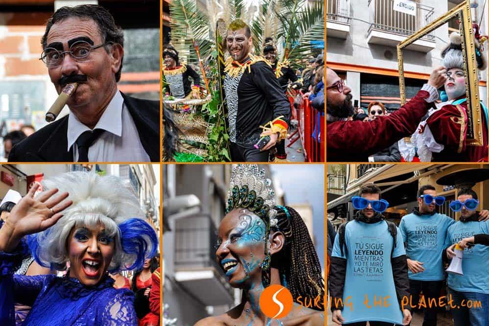 Montázs sitgesi karnevál