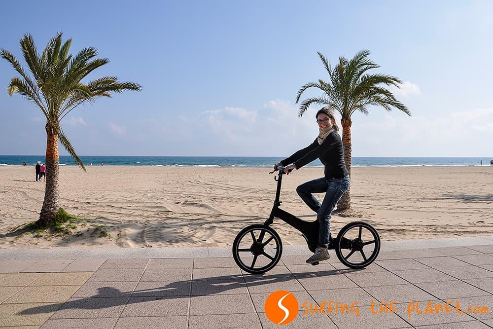 Probando la bicicleta eléctrica