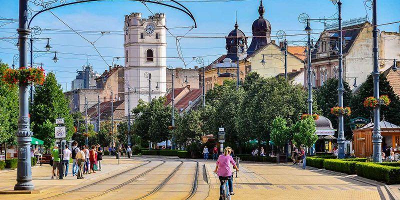 Plaza Kossuth, Debrecen, Hungría