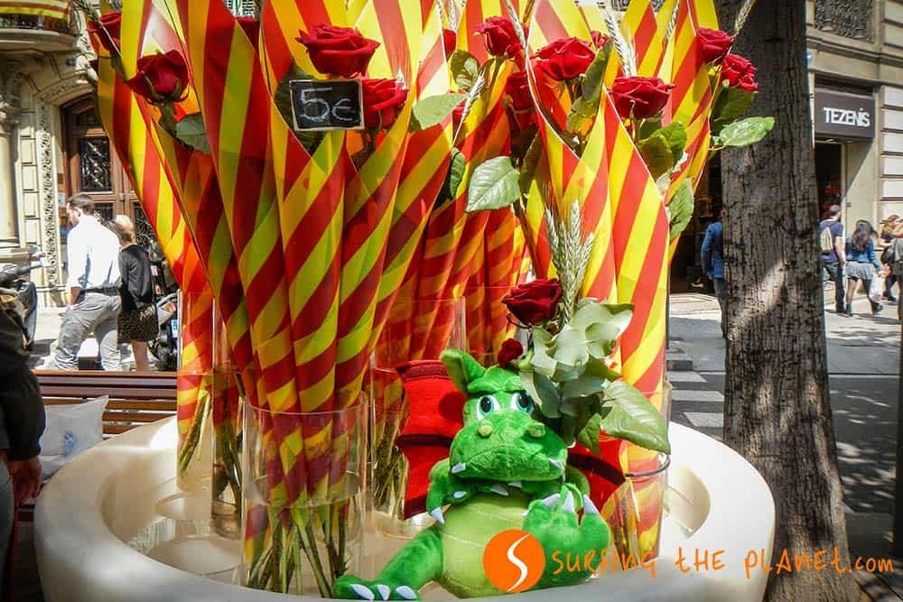 Rose a Rambla Catalunya per San Giorgio