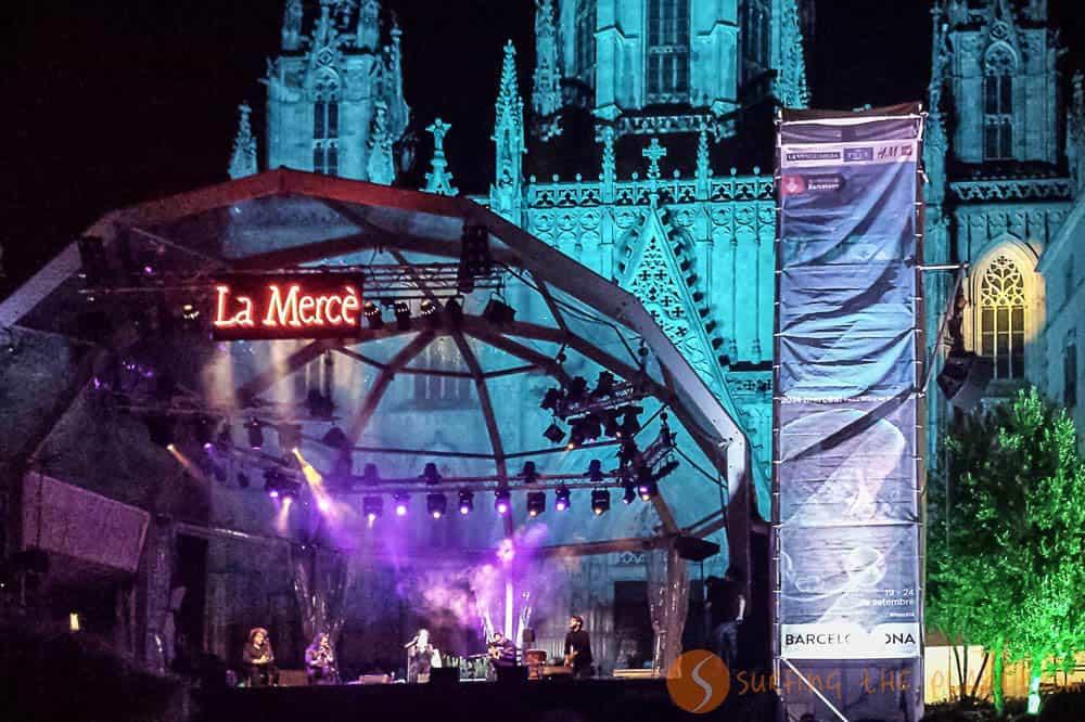 Concierto fiestas de la Mercé Barcelona
