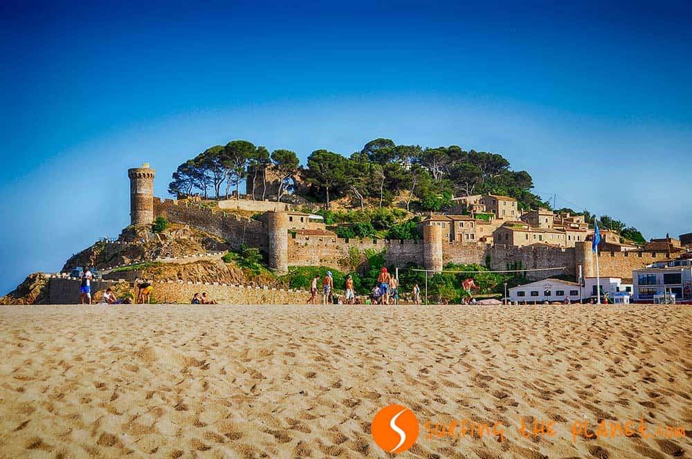 castillo Tossa de Mar, Cataluña, España
