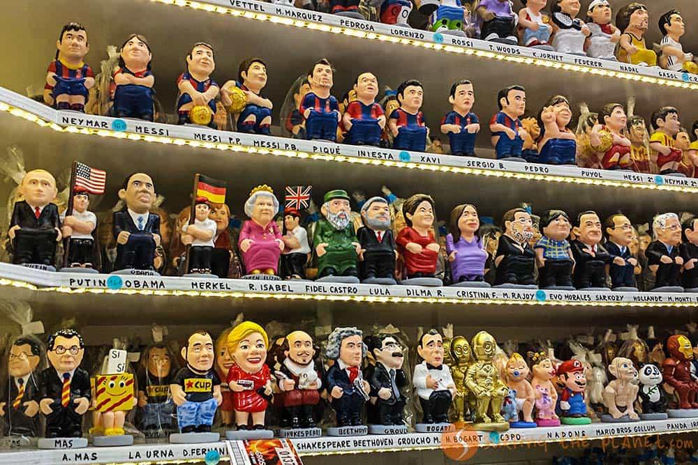 Tradiciones Navideñas en Barcelona - Caganers de famosos