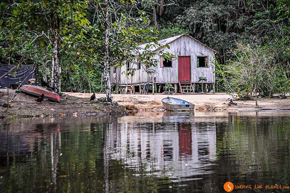 Una casa escondida en el Amazonas