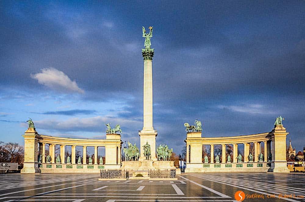 Visitar Budapest - Plaza de los Heroes